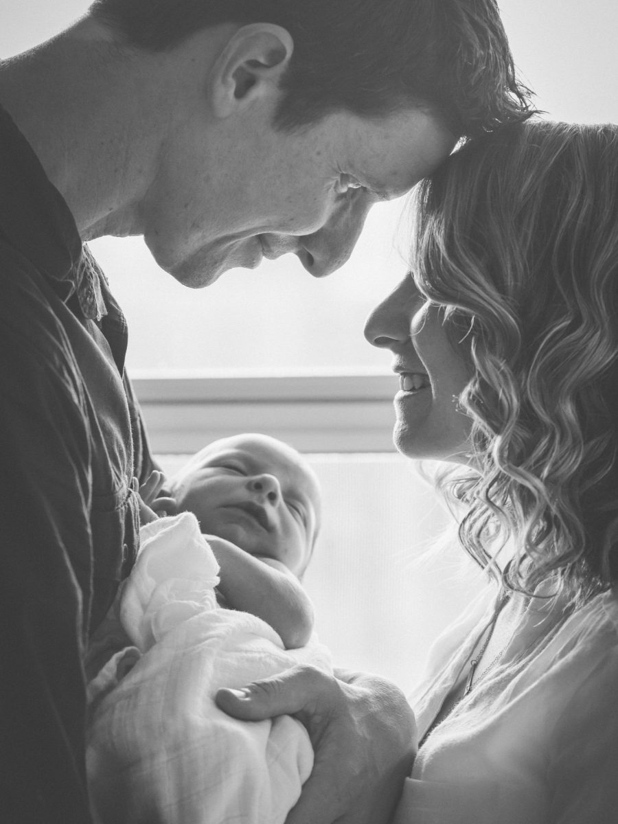 James and Whitney Holt with newborn baby Hamilton Holt Photography baby
