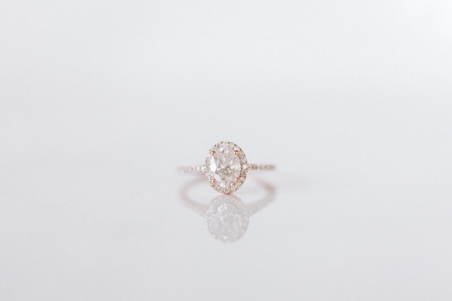 Spencer and Kirsten's Engagement Ring Rose Gold Oval